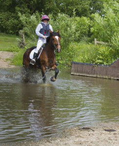 Smiles at the water jump